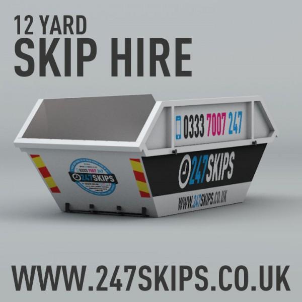 12 Yard Skip Hire | 247 Skips | Local Skip Hire